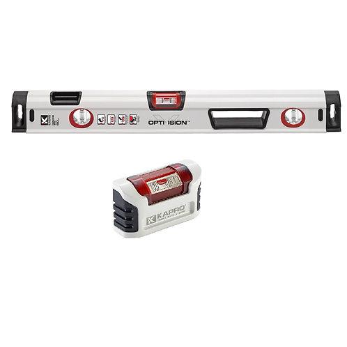 """905-24+946M  Optivision  24"""" Box Level PLUS 4"""" Magnetic Handy Level Set"""