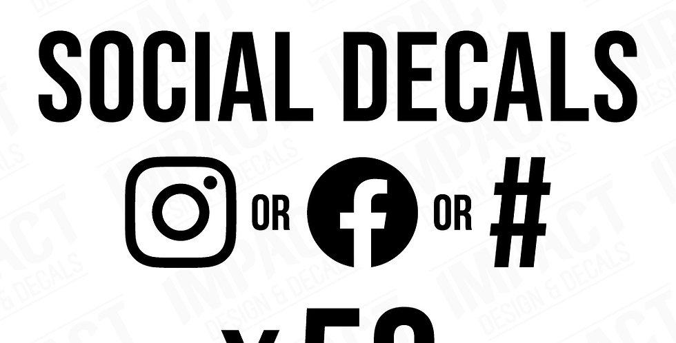 50 x Custom 300mm Social Decals