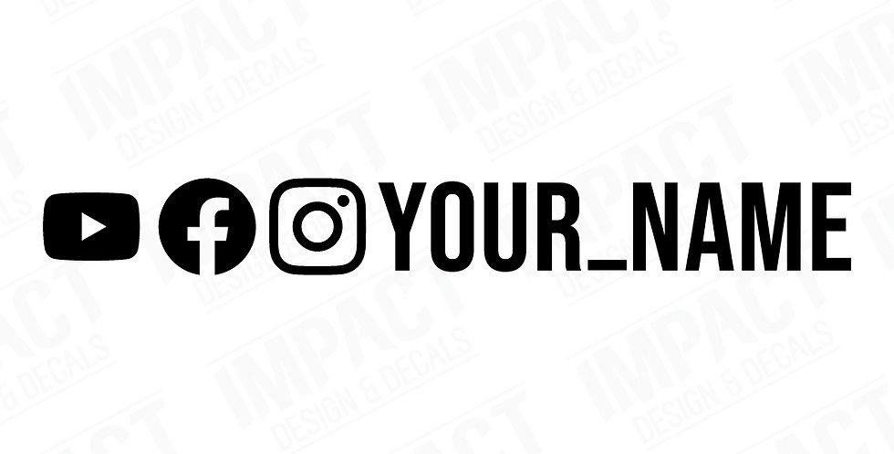 Custom Facebook, Instagram & YouTube Decals - Large