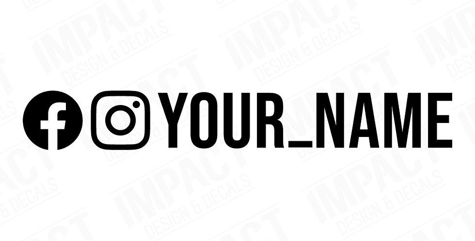 Custom Facebook & Instagram Decals - Large