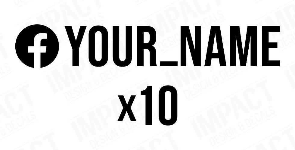 10 x Custom Facebook Decals - Small