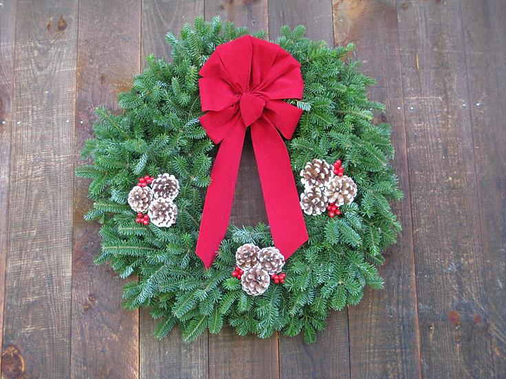 Traditional Christmas Balsam Wreath