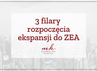 3 filary rozpoczęcia ekspansji do ZEA