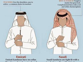 Różnice w strojach | kraje GCC