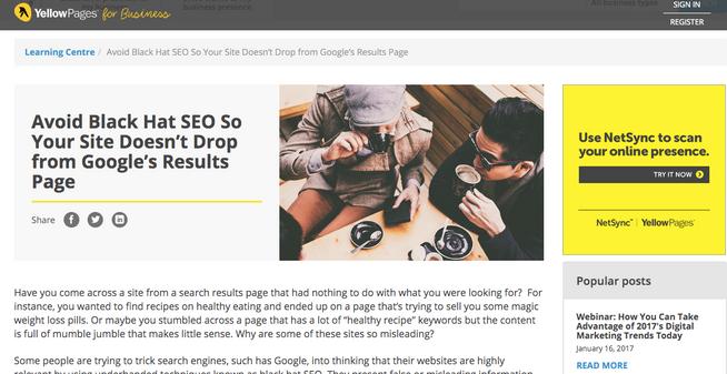 Sample blog for YP for Business