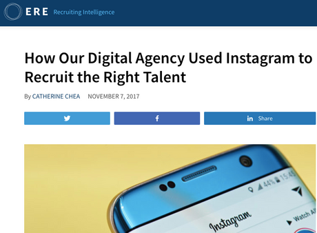 Blog: How Our Digital Agency Used Instagram to Recruit the Right Talent