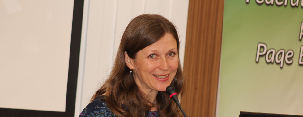 WFWP Eurasia president Olga sharing abou