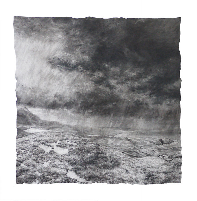 'Uig Storm Clouds'.  charcoal & graphite drawing. 4ft x 4ft