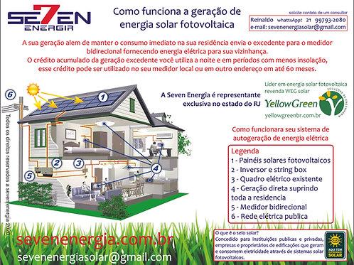 Usina de Geração de Energia Solar ongrid com geração de 7000kw