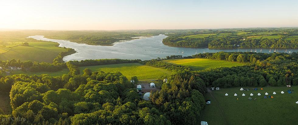 Lawrenny Aerial Festival View