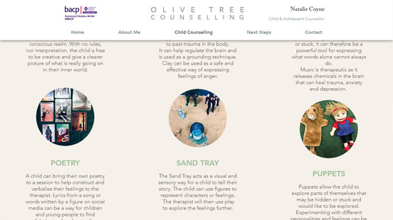 Olive Tree Counselling Website Child Counselling
