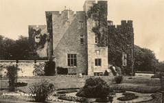 Lawrenny Castle: SW elevation with Rose Garden