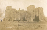 Lawrenny Castle: SE elevation with terraces