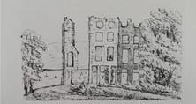 Sketch of Lawrenny Hall by Emma Allen (of Cresselly) 1843