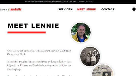 Lennie's Laundrette Website Meet Lennie