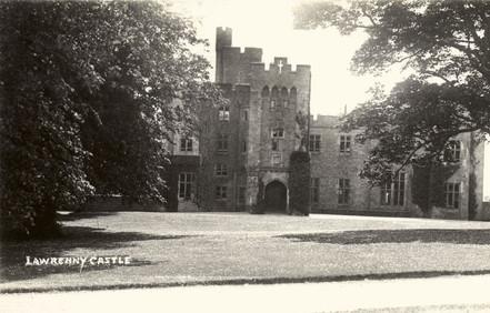 Lawrenny Castle: main NW elevation