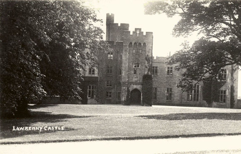 Lawrenny Castle: main NW elevation