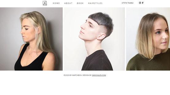 Matchbox Salon Website Hairstyles