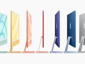 Los nuevos iMacs coloridos de Apple cuentan con un diseño más elegante y el chip M1