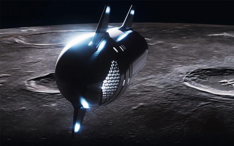 SpaceX se dispone a enviar una Starship con astronautas privados alrededor de la Luna en 2023