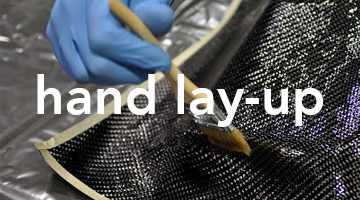 hand lay-up carbon fiber skinning
