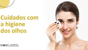 Cuidados com a higiene dos olhos