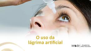 O uso da lágrima artificial