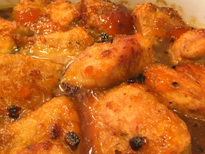 Glazed Apricot Honey Chicken
