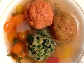 Tricolore Matzah Balls