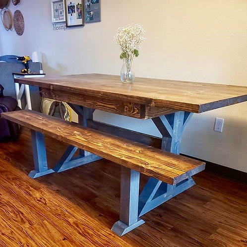 Farmhouse Dining Table/Bench