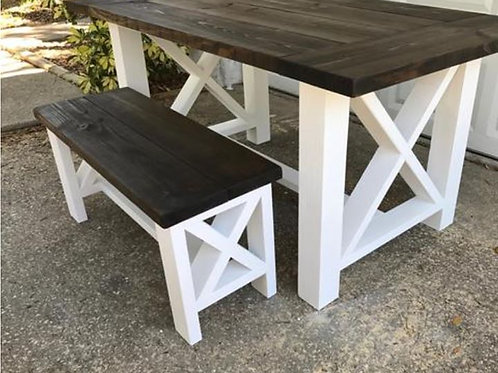 X Style Dining Room Table