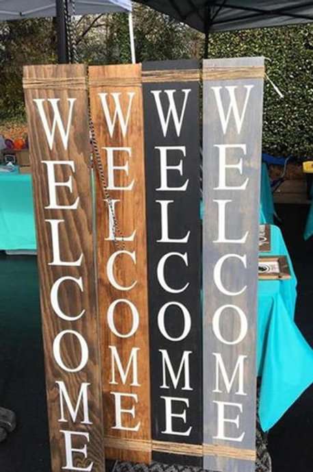 Welcome signs, Holiday signs, Front porch sign, Wall decor, Greeting, Custom sig