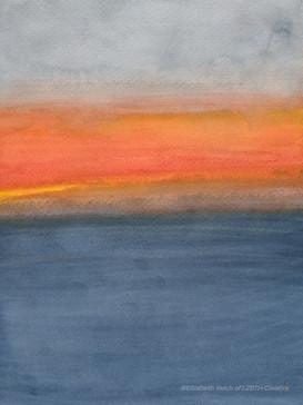 Color Field: Hawaii Ocean Sunset