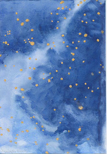 Blue and Gold Starry Night