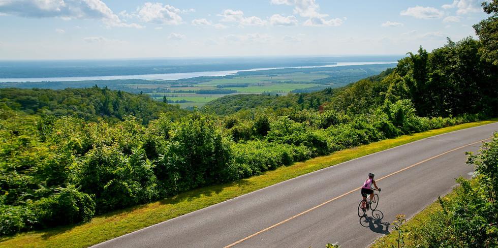 Vélo sur Mont Covey Hill