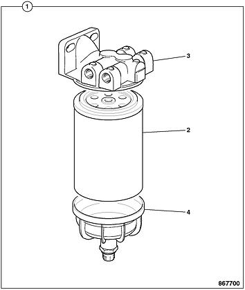 JCB Fuel Filter: SC1393640