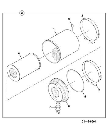 JCB Element Air Filter Insert: SC1335680
