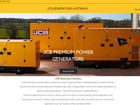 New website for JCB Generators AU