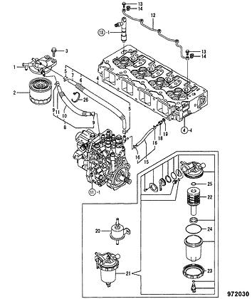 JCB Fuel Filter: 02/971620