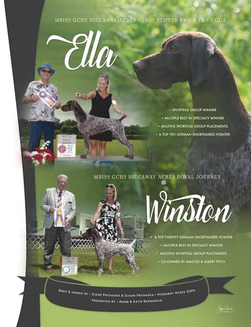 Prohaska Annual 2020 Canine Chronicle Ad