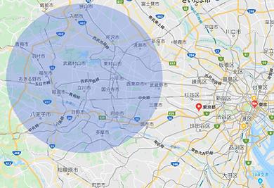 当社の防犯カメラエンジニアは東京都武蔵村山市からおおよそ半径15Kmのエリア限定で信頼の密着サポートを致します。東京多摩地区、三多摩地区、埼玉県南西部入間市 清瀬市 狭山市 所沢市までをサポートします。