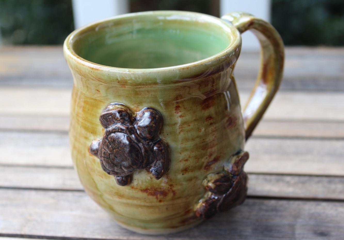 Celadon Turtle Mug