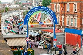 image of the Shepherds Bush market entrance