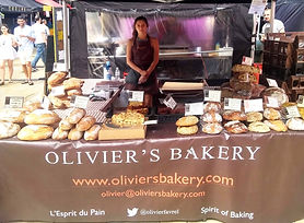 Olivier's Bakery stall on Lyric Square Hammersmith