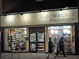 Shop window of Bushwacker Wholefoods