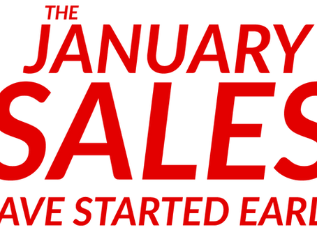 The January Sales have started early!