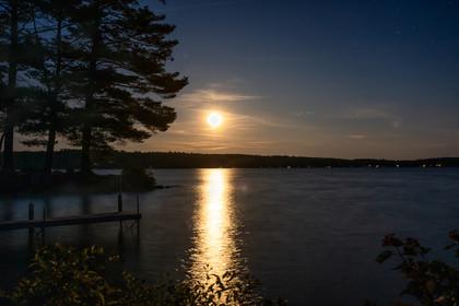 Moonrise Over Thompson Lake