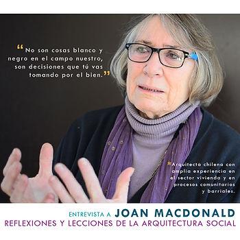Entrevista a Joan MacDonald