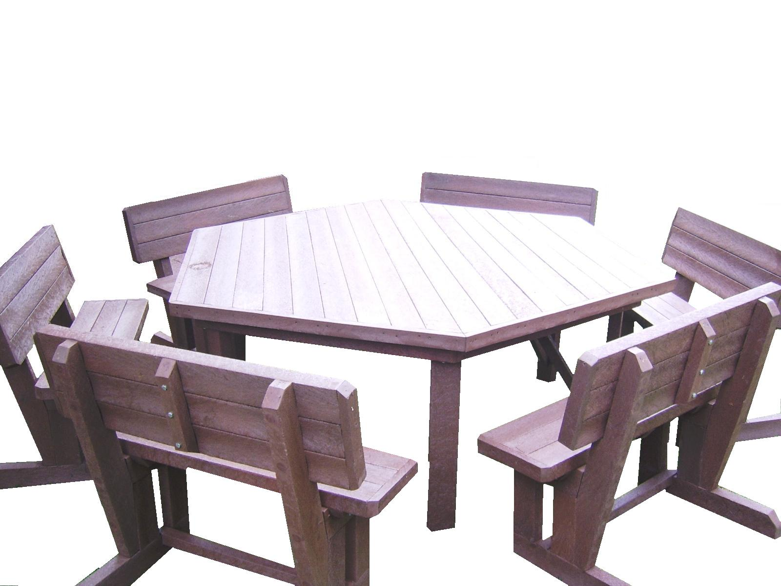 12 Seater Hex Patio Set