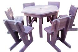 6 Seater Hex Patio Set